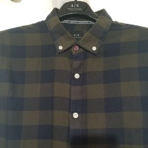 A/X Armani Exchange Green/Navy Flannel